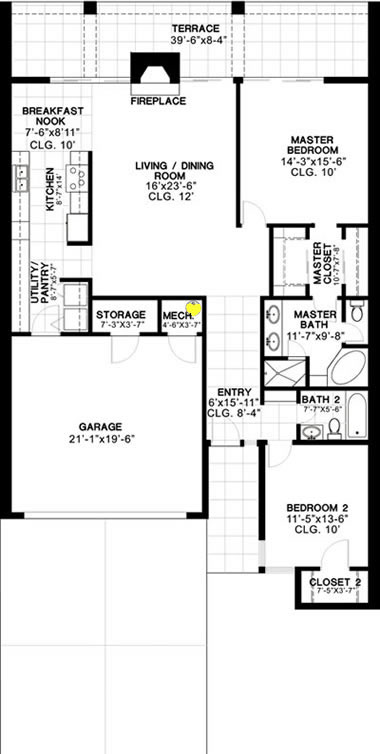 1581 floor plan for the commons townhomes tucson