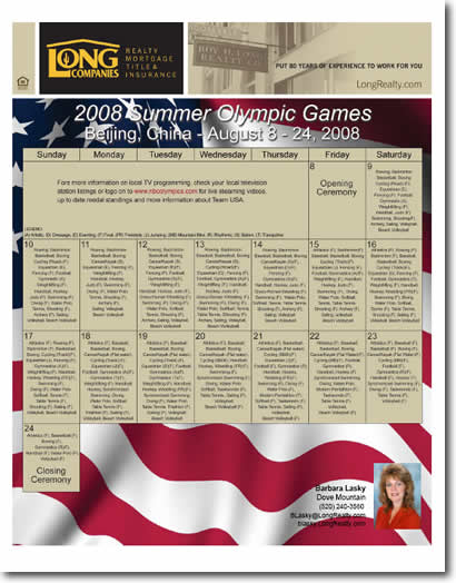 Summer Olympics 2008 Schedule of Events